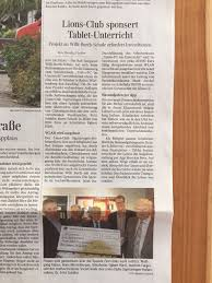 Szon Bad Saulgau Lions Club Sigmaringen Hohenzollern Presse
