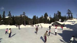 outdoor ice skating grouse mountain north vancouver bc youtube