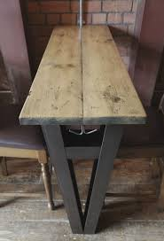 wooden high bar table high bar tables for the tramshed steel rsj and reclaimed wood