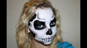 dramatic skull halloween makeup tutorial youtube