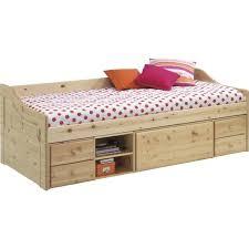 canape lit pour enfant lit banquette pour enfant en pin massif en bois naturel dim 205