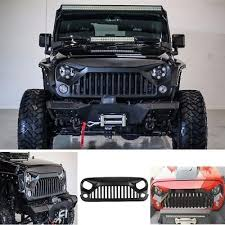 jeep wrangler front grill new front topfire matte black grille grid grill for jeep wrangler jk