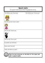 speech marks 2nd 4th grade worksheet lesson planet