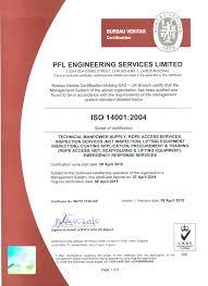 bureau veritas nigeria certificates affiliations pfl engineering services limited