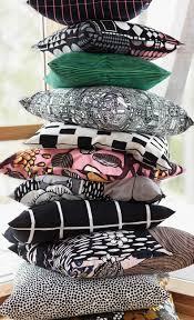 Marimekko Bed Linen - iso noppa cushion cover 50x50cm offer white black marimekko com