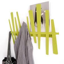 coat hook wall mounted with modern artistc green coat rack design
