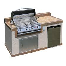 cal flame outdoor kitchen 4 burner barbecue grill island with
