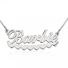 white gold name necklace 14k white gold hearts name necklace jeweleen