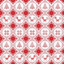 scandinavian seamless cross stitch inspired nordic style christmas