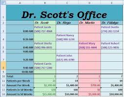week 10 homework microsoft excel doctor appointments