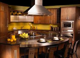 Cherry Wood Kitchen Cabinets L Shape Kitchen Decoration Using Mount Ceiling Stainless Steel