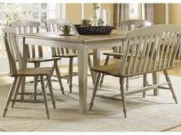 liberty furniture al fresco six piece dining table set with chairs