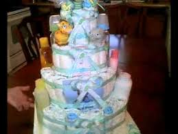 pastel de pañales para baby shower de niño youtube