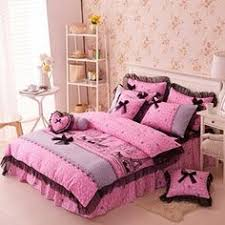 Walmart Girls Bedding Mainstays Kids Paris Bed In A Bag Bedding Set Walmart Com For