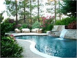 Backyard Planter Ideas Backyards Fascinating Landscaped Pool Pictures Landscape Design