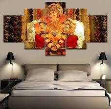 large prints for walls wall decor canvas prints wall wall art buddha wall decoration golden buddha wall decor 5 piece hd print painting large ganesh elephant trunk