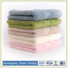 fabricant serviette de plage fabricants en gros couleur pure longue coton serviette de bain