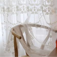 Embroidered Sheer Curtains Amazing Embroidered Sheer Tulle Curtain For Living Room Bedroom