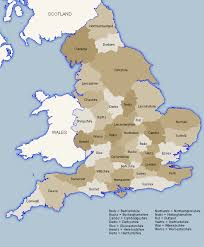 county map map uk showing counties major tourist attractions maps