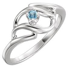 design a mothers ring silver 1 to 5 s ring