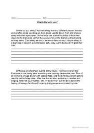6 free esl main idea worksheets