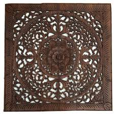 large carved tropical floral wood wall panels bali home decor 36