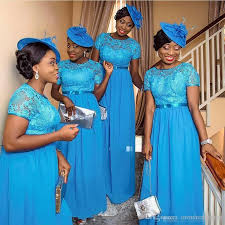 bridesmaid dresses in blue blue chiffon nigeria bridesmaid dresses 2016 vintage lace