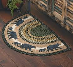 braided rug black cub half braided rug