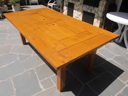ana white patio dining table with built in drinks cooler diy