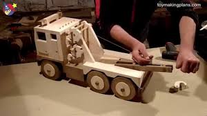 Free Wooden Toy Plans Patterns by Wood Toy Plans Big Rig Wrecker Truck Youtube