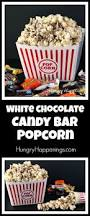 white chocolate candy bar popcorn easy recipe