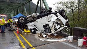 oregon highway 38 closed after truck crash damages scottburg