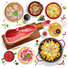de cuisine espagnole vue de dessus collection de cuisine espagnole aux fruits de mer