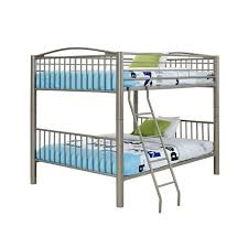 Powell Heavy Metal Full Over Full Bunk Bed In Pewter - Full over full bunk bed