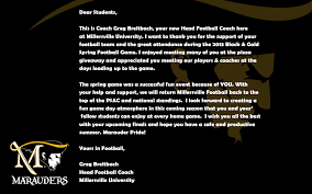 Psac Standings by A Thank You From The Head Football Coach Millersville Announcements