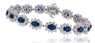 sapphire bracelet with diamonds images Sapphire diamond cluster bracelet 15 50ct diamond aurora jpg