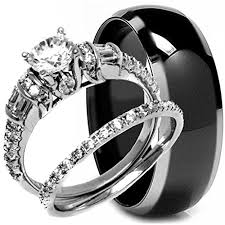 titanium engagement rings images Nycjewelrydesign 3 pieces men 39 s and women 39 s his jpg