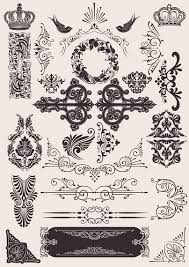 vintage ornaments collection vector