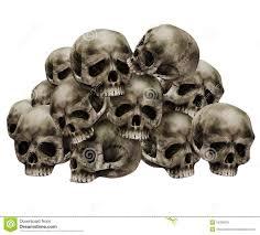 pile of skulls stock illustration illustration of pile 16288630