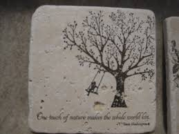 sunday view travertine tile coaster tutorial