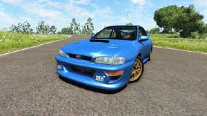 subaru impreza modified blue subaru for beamng drive download for free