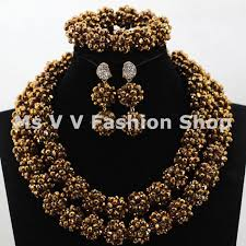 beaded jewelry necklace images 2018 african beads jewelry set 2017 new gold trendy nigerian jpg