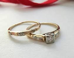 Vintage Wedding Ring Sets by Vintage Wedding Ring Set Etsy
