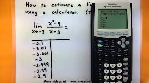 input output tables calculator calculus estimate a limit using a ti 83 84 calculator youtube