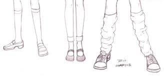 drawn shoe anime character pencil and in color drawn shoe anime