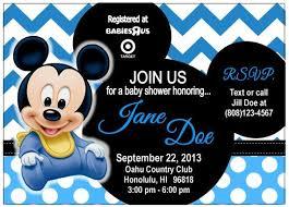 mickey mouse baby shower invitations lilbibby com
