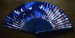 japanese folding fan japanese fan made silky fabric folding fan
