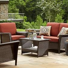 Deep Seating Wicker Patio Furniture - ty pennington style parkside deep seating set rust shop your