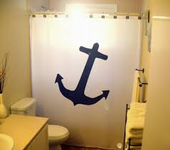 Nautical Bathroom Curtains Anchor Shower Curtain Nautical Bathroom Decor Anchor Shower