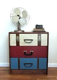 paint ikea dresser suitcase dresser ikea rast hack girl in the garage